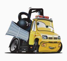 Cartoon Tow Truck One Piece - Short Sleeve