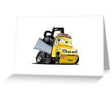 Cartoon Tow Truck Greeting Card