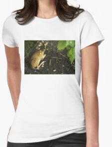 Deer Looking Up Womens Fitted T-Shirt