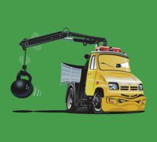 Cartoon Tow Truck Baby Tee