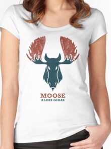 Alaskan Moose - Alces Gigas Women's Fitted Scoop T-Shirt
