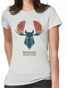 Alaskan Moose - Alces Gigas Womens Fitted T-Shirt