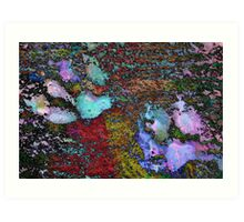 Paw Prints Lilac and Turquoise Pads Art Print