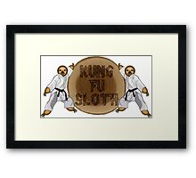 Kung Fu Sloth! Framed Print