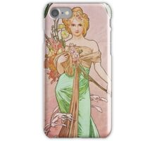Alphonse Mucha - Printempsspring iPhone Case/Skin