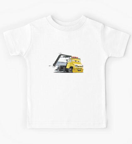 Cartoon Tow Truck Kids Tee