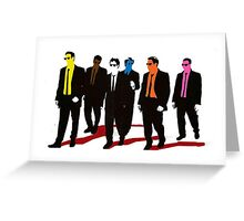 Reservoir Dogs Color Greeting Card