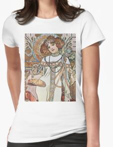 Alphonse Mucha - Pagp Automneautumn Womens Fitted T-Shirt