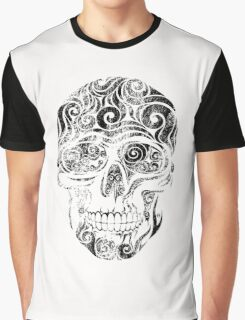 Swirly Skull Graphic T-Shirt