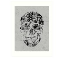 Swirly Skull Art Print