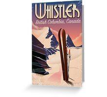 Whistler,Vancouver, British Columbia Ski poster  Greeting Card