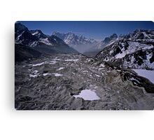 Aerial view of the Khumbu Glacier under Mount Everest Nepal Canvas Print