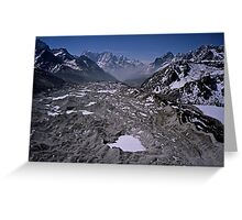 Aerial view of the Khumbu Glacier under Mount Everest Nepal Greeting Card