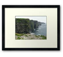 Cliffs of Moher - beach and flowers Framed Print