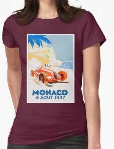 Grand Prix Monaco 1937 Womens Fitted T-Shirt