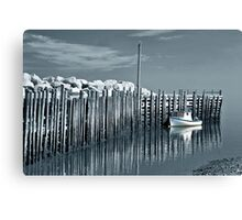Margaretsville Wharf - selective color Canvas Print