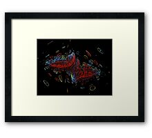 Fractal Time Warp Framed Print