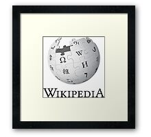 Wikipedia Logo Ultra High Quality Framed Print