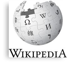 Wikipedia Logo Ultra High Quality Canvas Print
