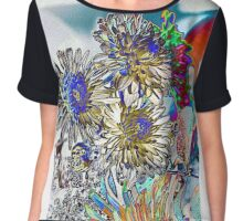 COLORING BOOK FLOWERS Chiffon Top