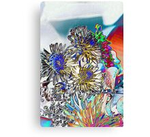 COLORING BOOK FLOWERS Canvas Print
