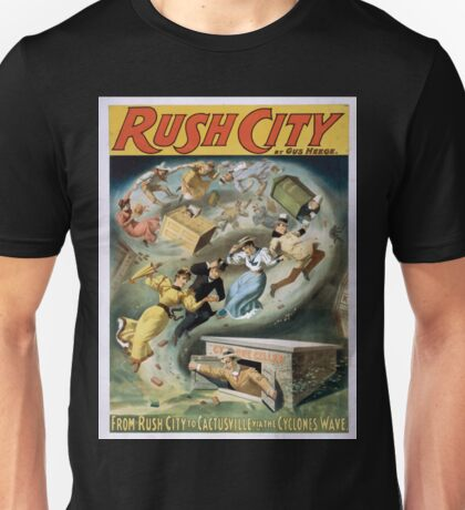 Performing Arts Posters Rush City by Gus Heege 2010 Unisex T-Shirt