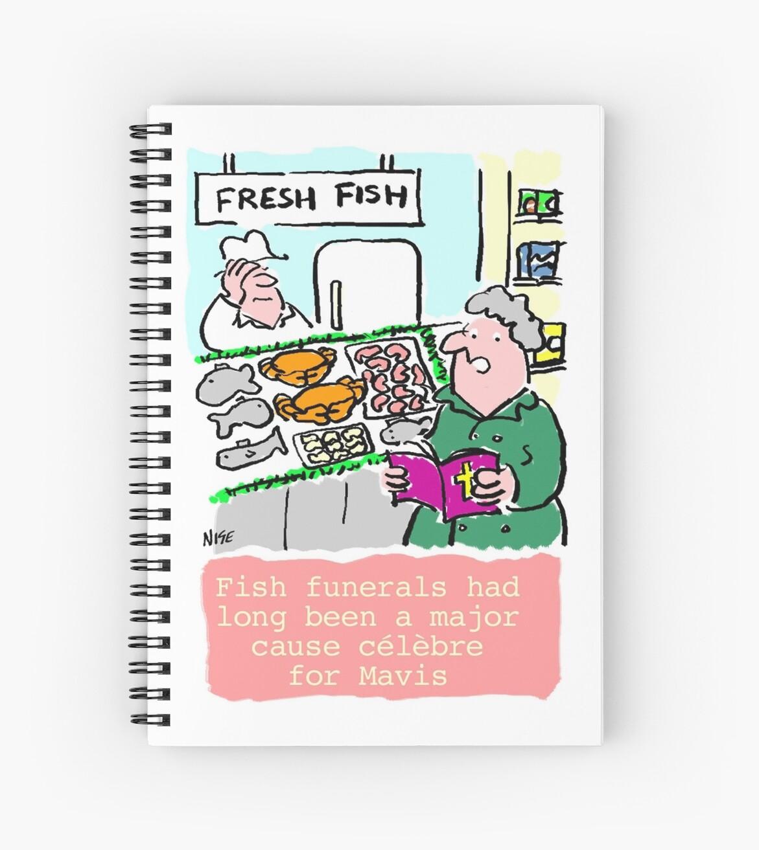 Cartoon - Fish Funerals by Nigel Sutherland