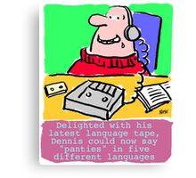 Cartoon - Pervert takes language course. Canvas Print