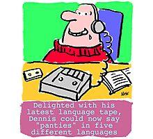 Cartoon - Pervert takes language course. Photographic Print