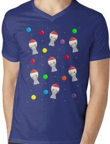 Gumball Machine Pattern Mens V-Neck T-Shirt