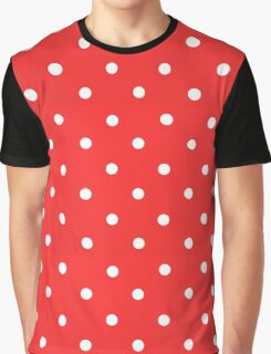 Dots Red & White Graphic T-Shirt