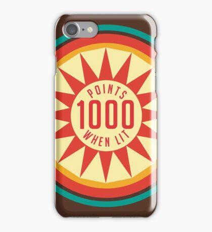 Retro Pinball Points iPhone Case/Skin