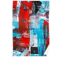 Modern Turquoise Abstract Poster