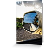 The Rear View Greeting Card