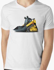 Cartoon Sked Steer Mens V-Neck T-Shirt