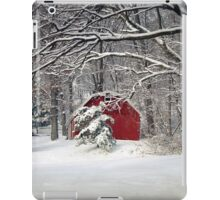 Red Barn in the Snow iPad Case/Skin