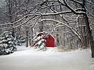 Red Barn in the Snow by FrankieCat