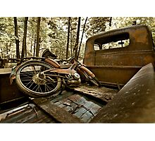 Vintage moped - swap meet find Photographic Print