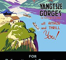 Yangtsze Gorges (Blue) by Vintagee