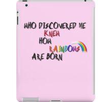 Pink princess talk iPad Case/Skin