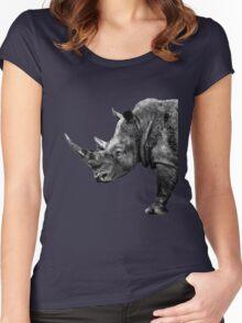 SAFARI PROFILE - RHINO BLACK EDITION Women's Fitted Scoop T-Shirt