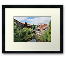 River Foss York Framed Print