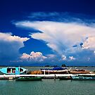 Cloud explosion over Gyra lagoon - Lefkada island by Hercules Milas