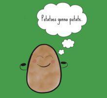 Potatoes gonna potate One Piece - Short Sleeve