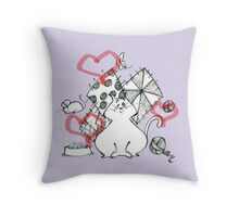 cat and nothing else! Throw Pillow