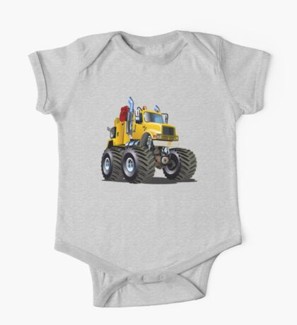 Cartoon Monster Tow Truck One Piece - Short Sleeve