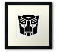 Transformers, Ditto In Disguise Black Logo Framed Print