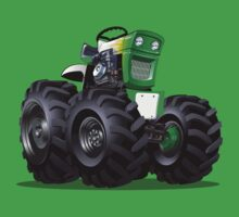 Cartoon Tractor One Piece - Short Sleeve
