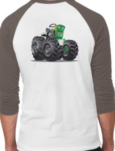 Cartoon Tractor Men's Baseball ¾ T-Shirt