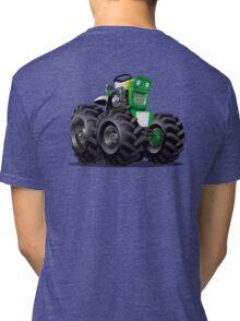 Cartoon Tractor Tri-blend T-Shirt
